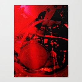 RED DIRTBIKE ENGINE Canvas Print