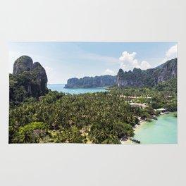 Railay Bay - Rai Leh Beach, Krabi Thailand  -  Tropical Paradise Rug