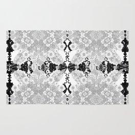 Delicate Castle Curtain Lace Rug