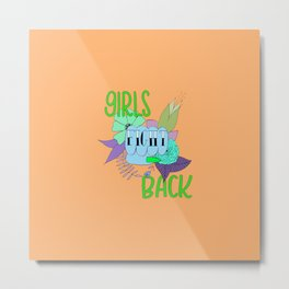 Girls fight back - zombie palette Metal Print