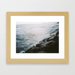 Rocky Ocean View Framed Art Print