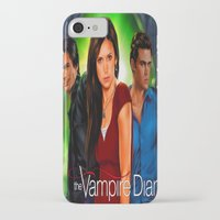 the vampire diaries iPhone & iPod Cases featuring The Vampire Diaries by Don Kuing