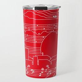 Moonlight Sonata Red Travel Mug