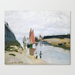 Monet - The Entrance to the Port of Trouville, 1870 Canvas Print