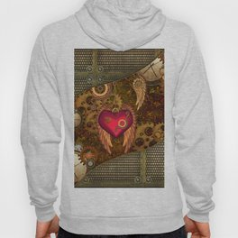 Steampunk, heart with wings Hoody
