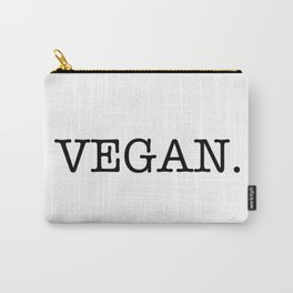 VEGAN. Carry-All Pouch