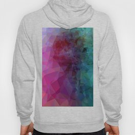 Geometric Pink/Blue Art Hoody