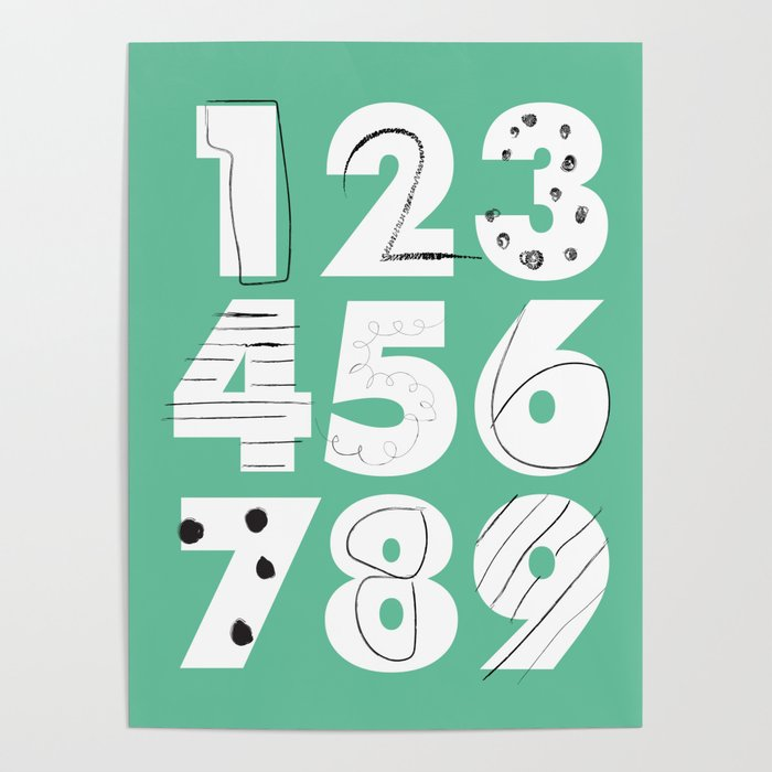 Funky Numbers Poster