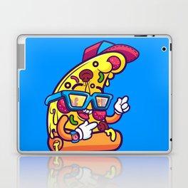 Background of modern pizza slice with skateboard Laptop & iPad Skin