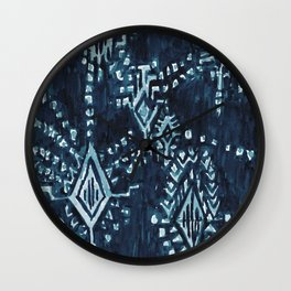 SATELLITE TRIBAL - INDIGO Wall Clock
