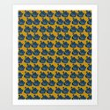 Crown Lynn Swans (Mustard) by katrinaward