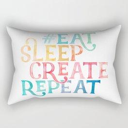 Eat Sleep Create Repeat Quote Rectangular Pillow