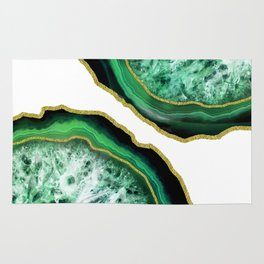 Green Holiday Agate Rug