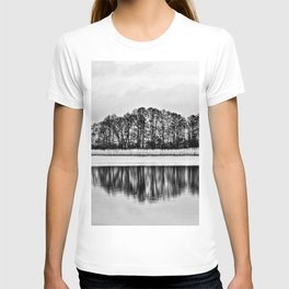 White Symphony of Winter Lake T-shirt