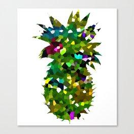 Pineapple Abstract Geometric Canvas Print