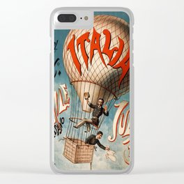 Vintage poster - Italia Clear iPhone Case