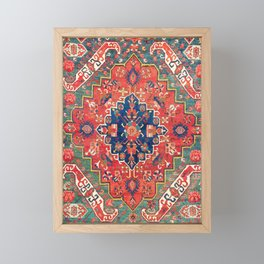 Alpan Kuba East Caucasus Rug Print Framed Mini Art Print