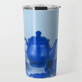 Blue tea party madness - still life Travel Mug