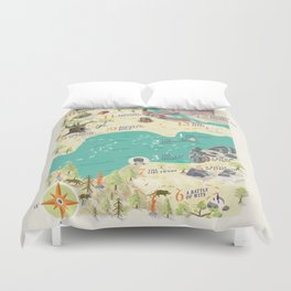Princess Bride Discovery Map Duvet Cover