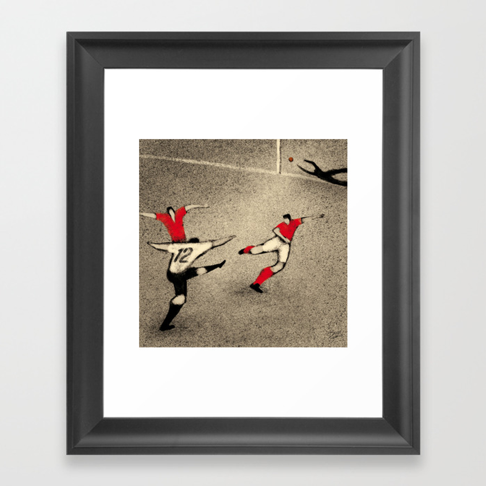 History Of Fifa World Cup - Germany 1954 Framed Art Print by Davidebonazzi FRM2804682