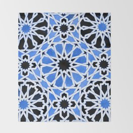 Moroccan Zellige pattern Throw Blanket