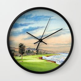 Pebble Beach Golf Course 18th Hole Wall Clock