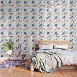 Bluebird and Dogwwod Wallpaper
