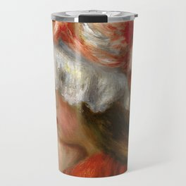 "Auguste Renoir ""Tête de jeune fille (Head of a young girl)"" Travel Mug"