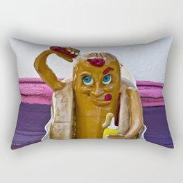 Hot Dog Dressing Up Rectangular Pillow