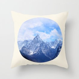 Himalayan Mountains Throw Pillow