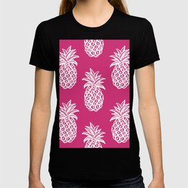 Pink yarrow inspired pineapples T-shirt