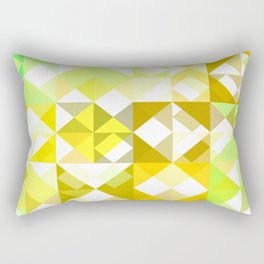 Pale Yellow Poinsettia 1 Abstract Triangles 1 Rectangular Pillow