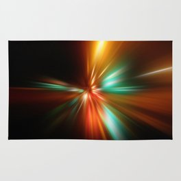 abstract acceleration speed motion on night road Rug