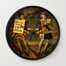 """Mala mujer"" Wall Clock"