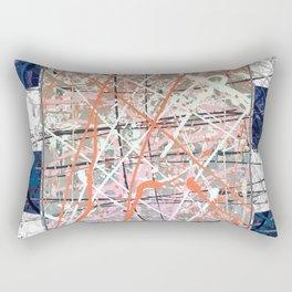 Flight of Color - blue geometric Rectangular Pillow