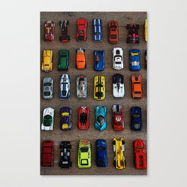 1980's Toy Cars Canvas Print