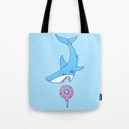 Shark Versus Donut Tote Bag