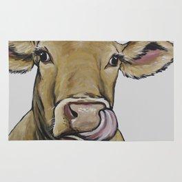 Funny Cow Art, Daisy the Cow Rug