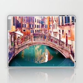 Small Bridge in Venice Laptop & iPad Skin
