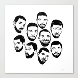 the many faces of Drake Canvas Print
