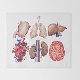 Watercolor organs Throw Blanket