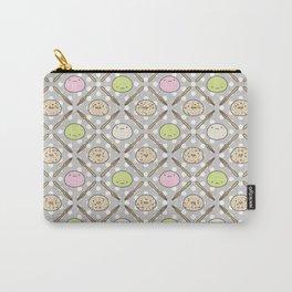 Mochi Kochi | Pattern in Grey Carry-All Pouch