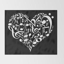 Invert Music love Throw Blanket