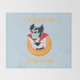 Crazed-up Fruitloop (Ghost) Throw Blanket
