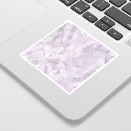 Abstract Painted Brush Strokes Sticker