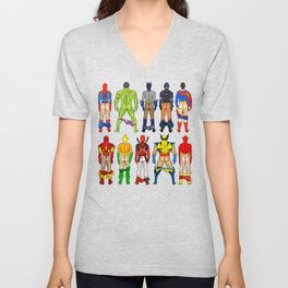 Superhero Butts Unisex V-Neck