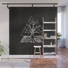 Valknut Symbol and Tree of life  -Yggdrasil Wall Mural