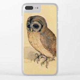 Albrecht Durer The Little Owl Clear iPhone Case