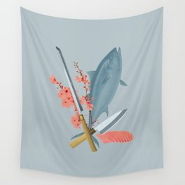 sushi chef Wall Tapestry