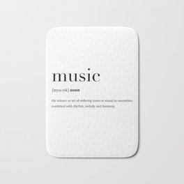 Music definition Bath Mat